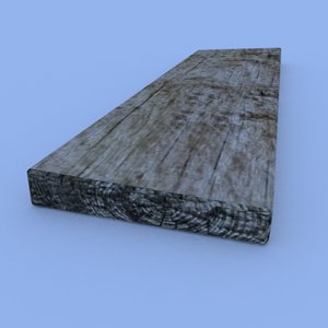 wooden plank 3d 3ds