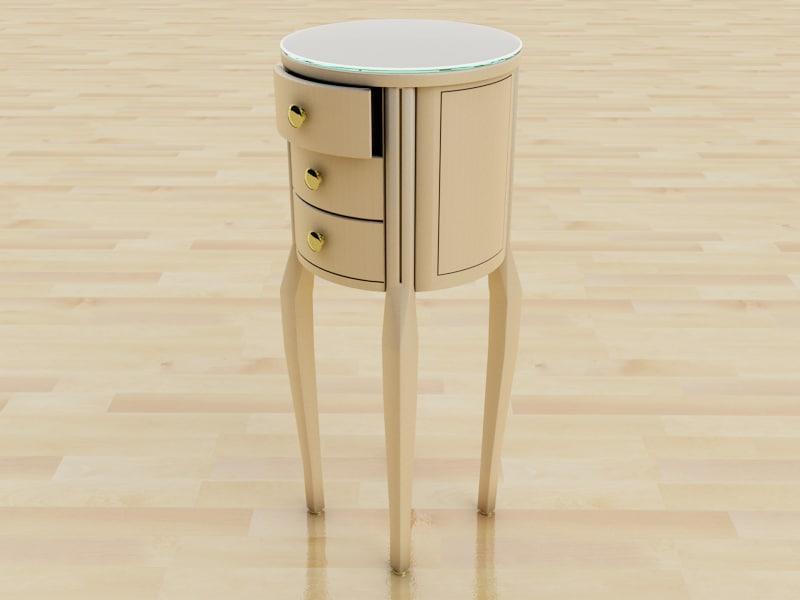 3d model chair drawer