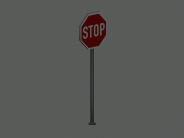 stop roadsign 3d model