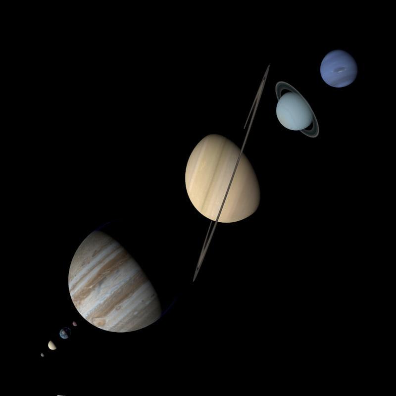 3d model photorealistic planets solar mercury venus
