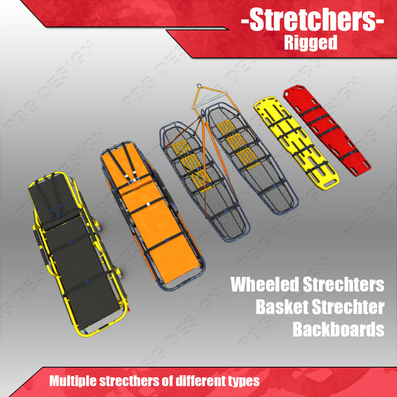 3d stretchers gurney