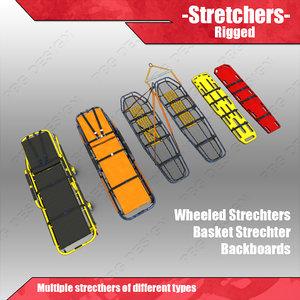 3d stretchers gurney