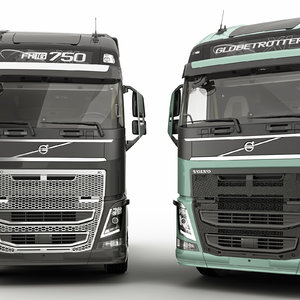 fh 2013 trucks 3d model
