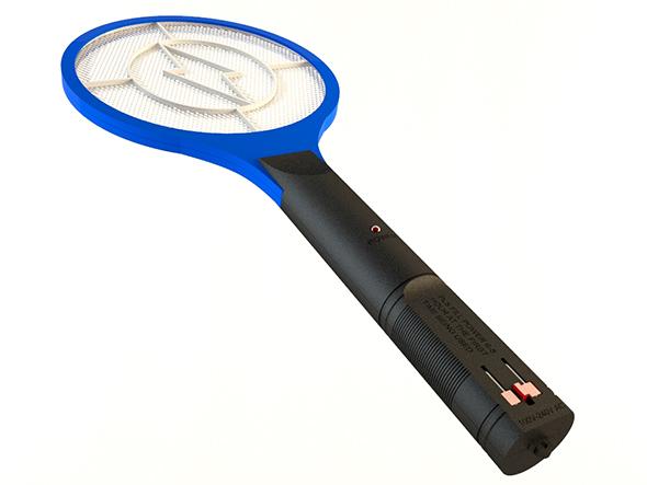 mosquito racket zapper 3d model