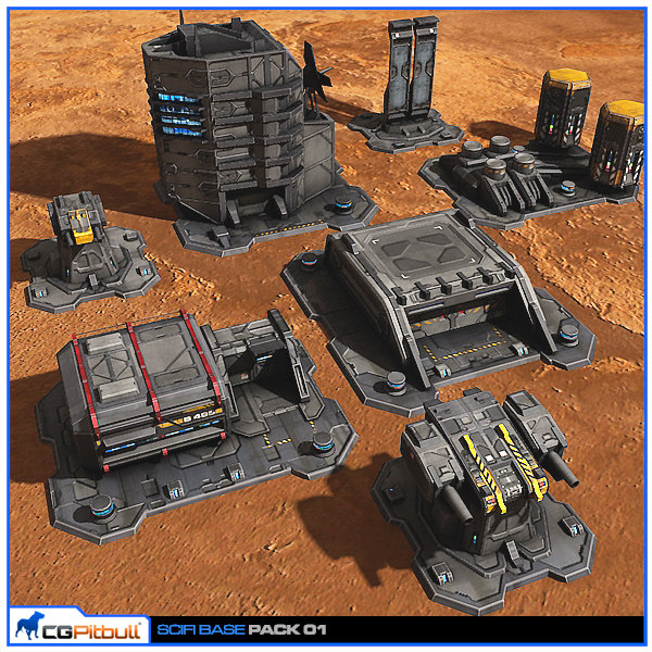 scifi base pack 01 3d max