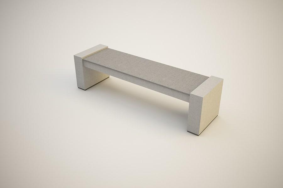 c4d outdoor bench