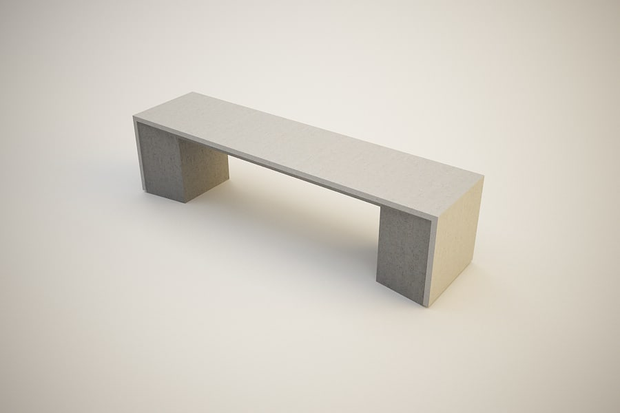 3ds outdoor bench