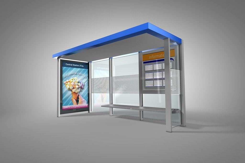 3dsmax bus shelter