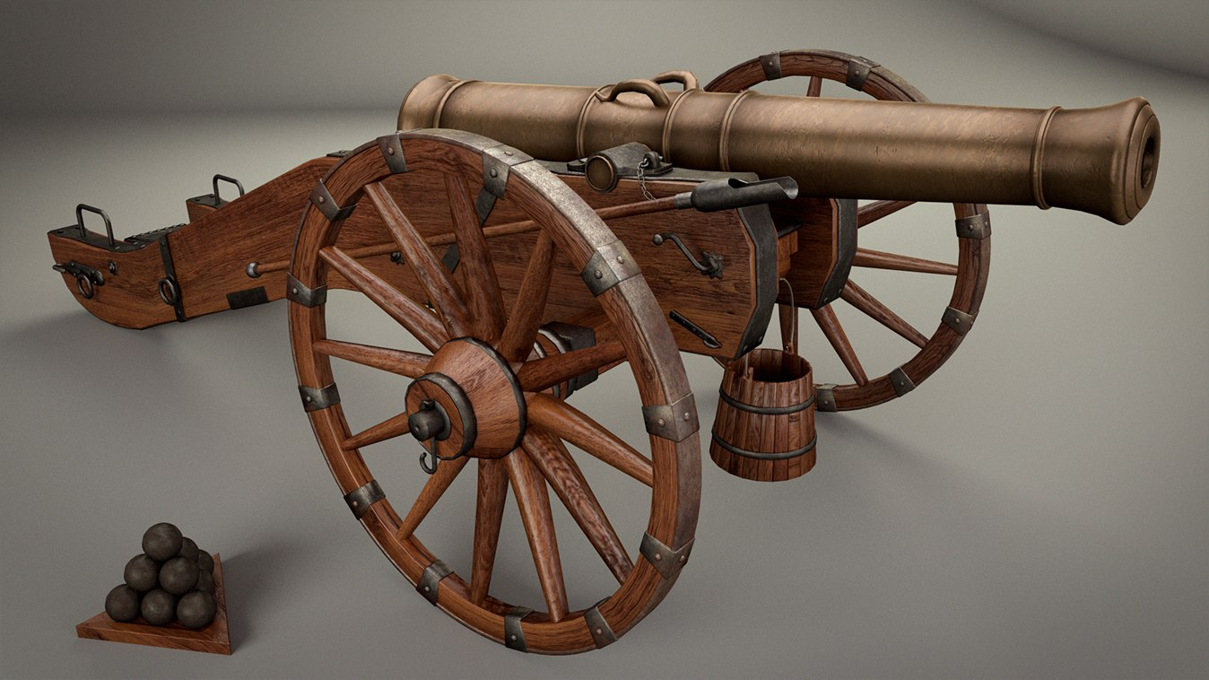 historical cannon 18th century obj