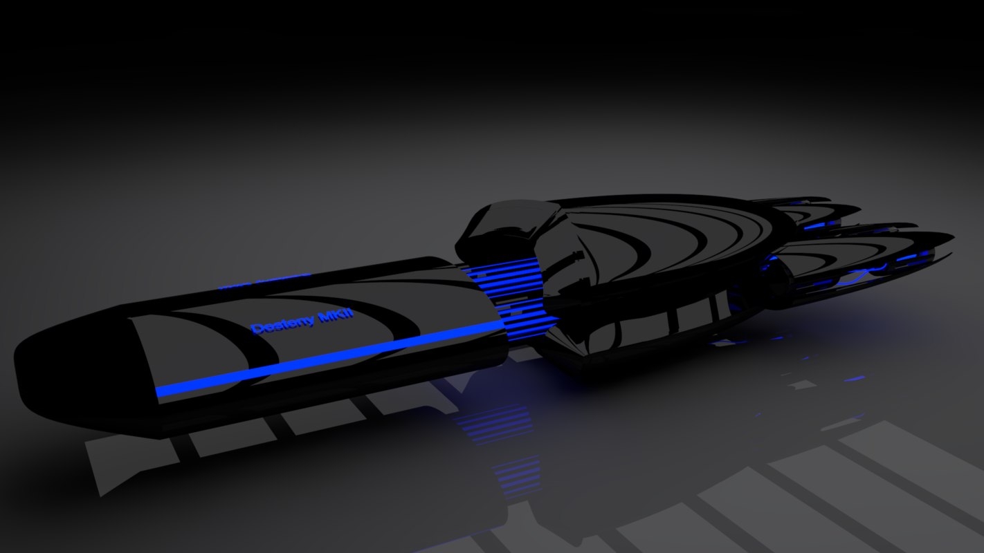 3d scifi space model