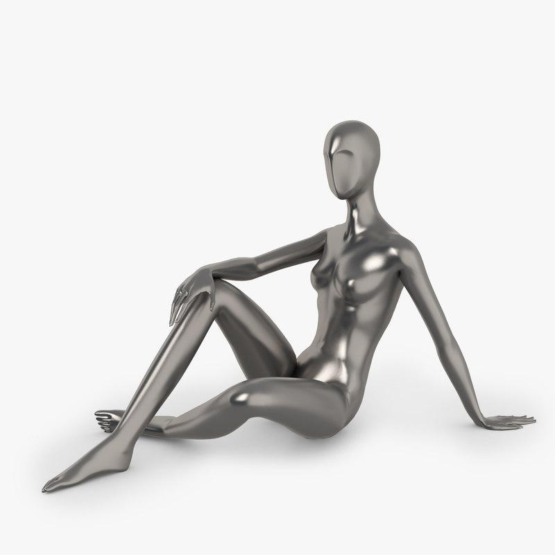 3dsmax slim female mannequins