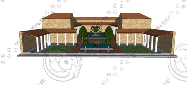 3ds max roman villa