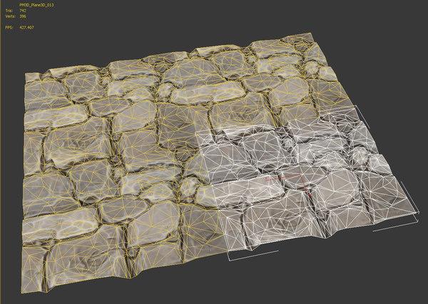 maya tileable stone pavement
