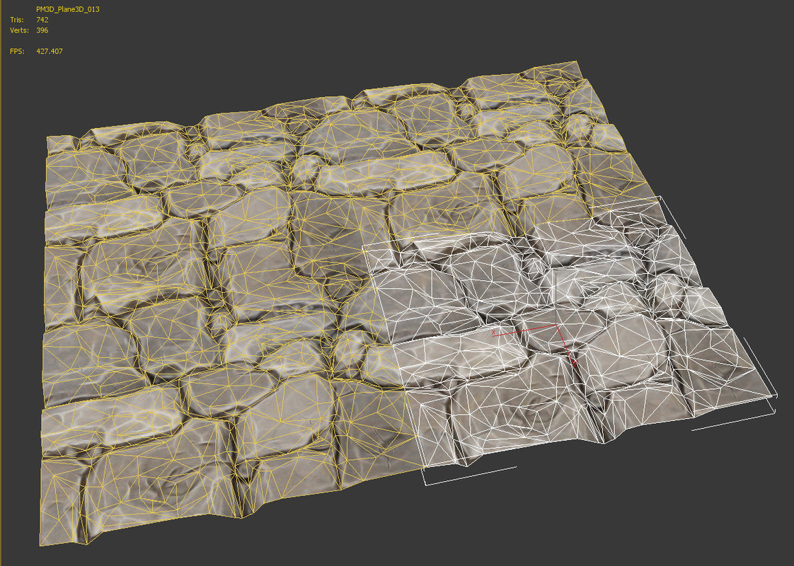 maya tileable stone pavement