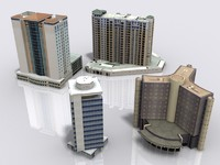 3ds max buildings-hotel