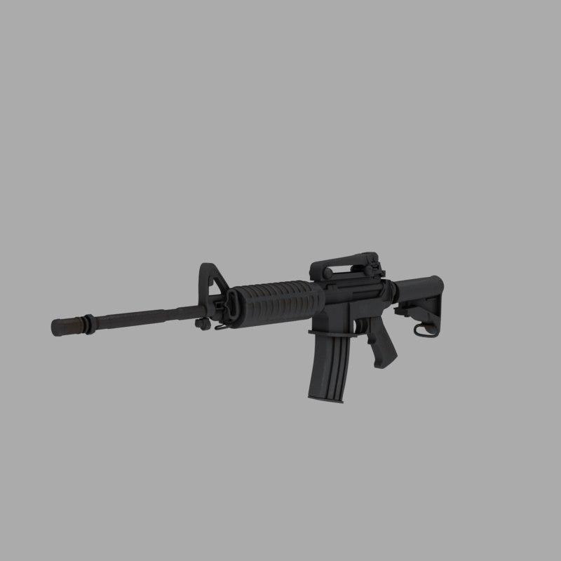 gun rifle m4 carbine 3d model