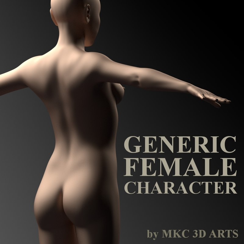 generic female character 3d model