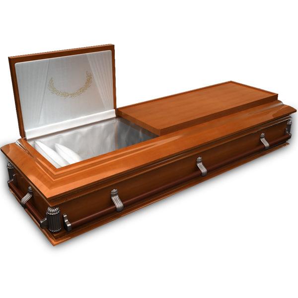 3d model coffin wood