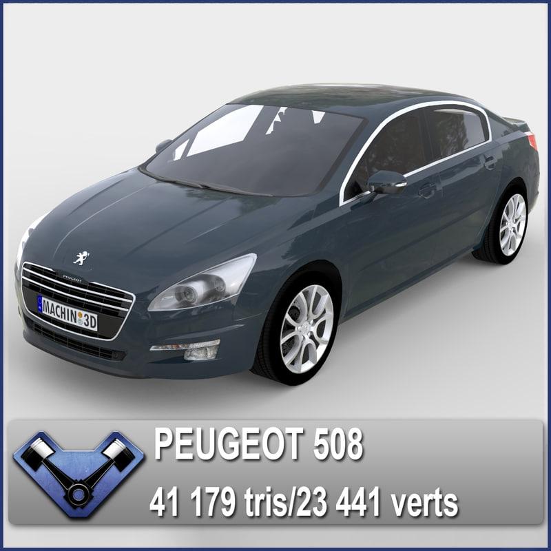 3d midpoly peugeot 508 model