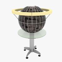 sauna harvia globe 3d max