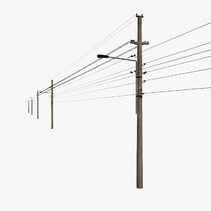 3d max street electricity pylons 1