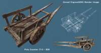 3ds max middle wagon barrel wood box