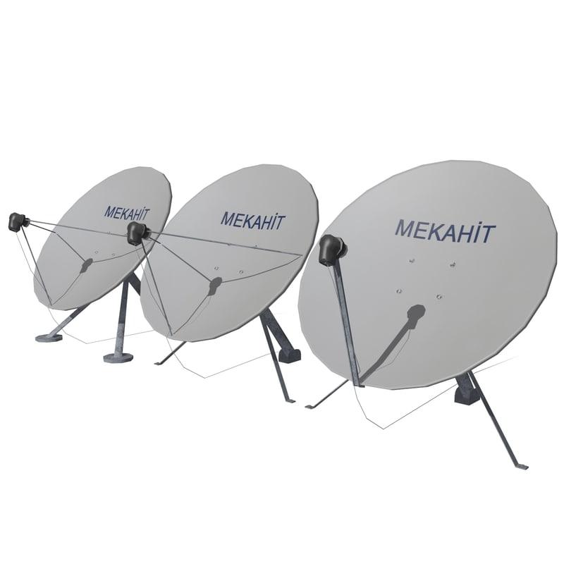 satellite dish mc-01 3d model