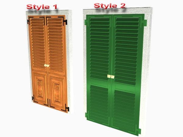 3d shutters doors