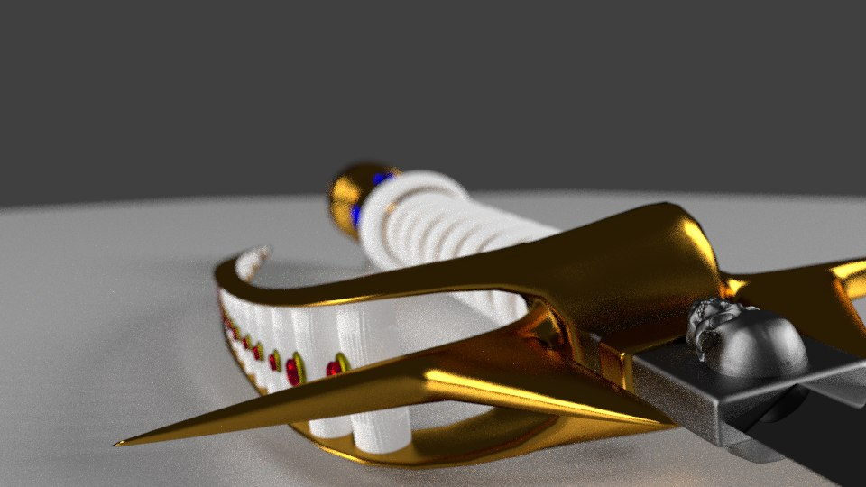 blender ornate sword