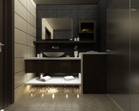 3d model bathroom en-suite