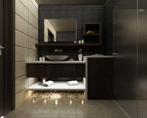 3d model bathroom en-suite