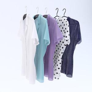 3d blouses hangers