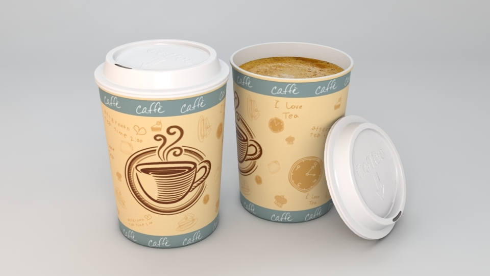 paper coffee cup 3d model