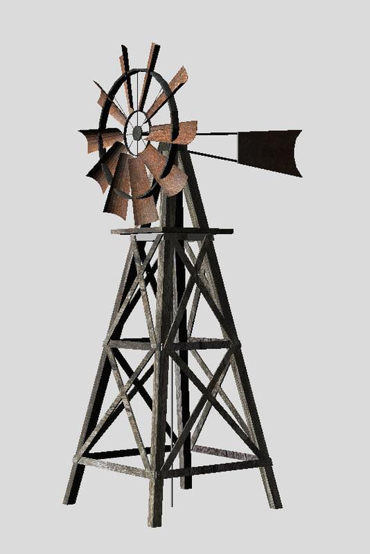 3dsmax farm windmill