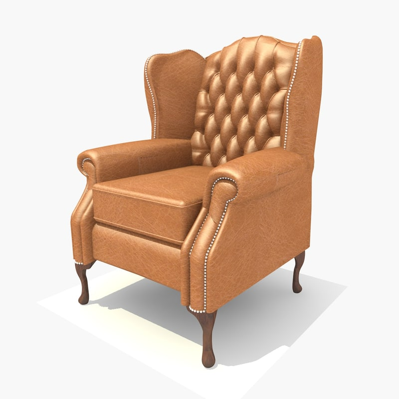 3ds leather classic chair