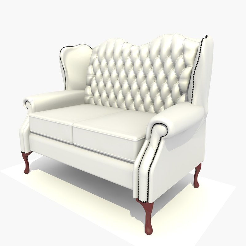 2 seater classic chair c4d