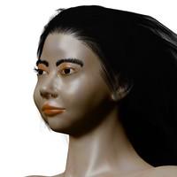 asian girl 3d blend