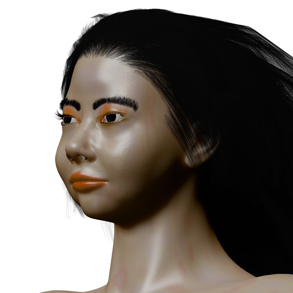 3D Asian Girl penina