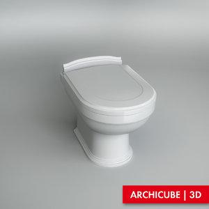 toilet wc 3d max