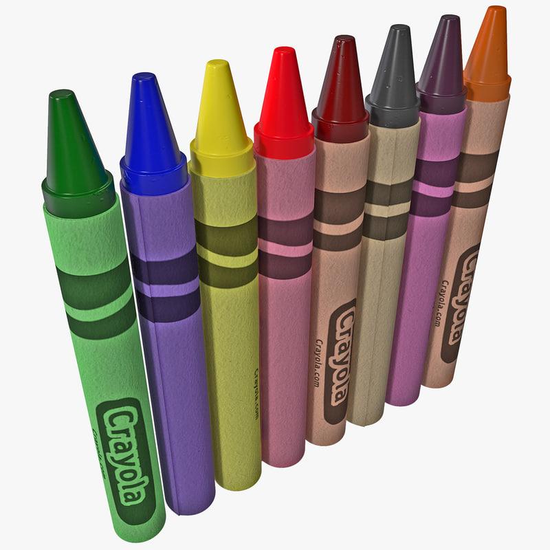 crayons 3d max