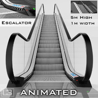 Escalator 5m high animated