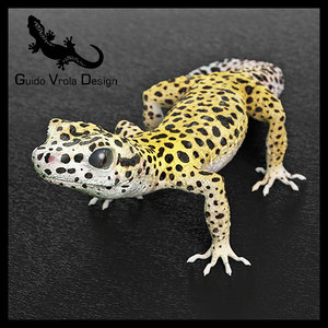 gecko leopard 3d model