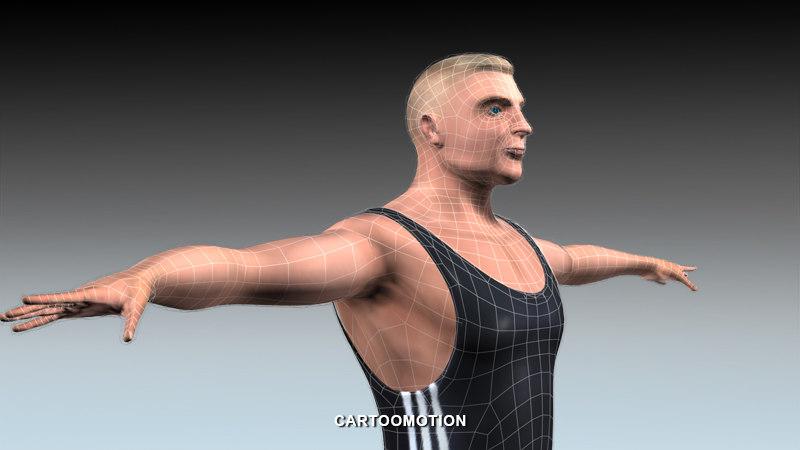 athletic handicap 3d model