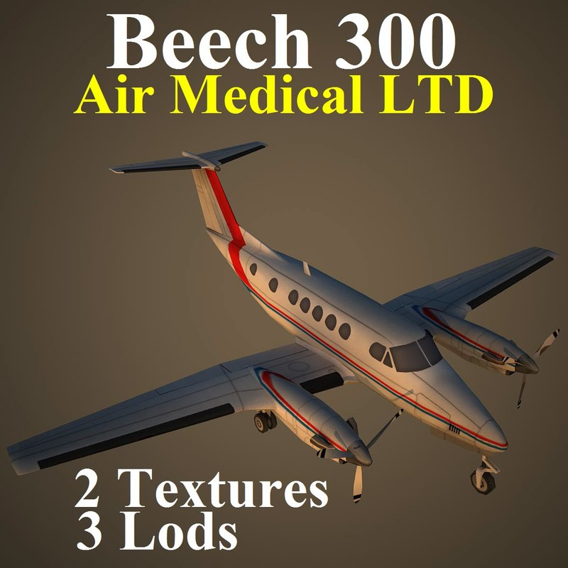 3d beech mcd aircraft model