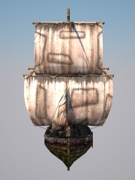 brig destruction sails fbx