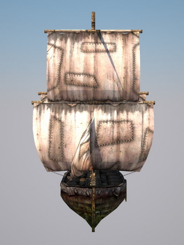 brig destruction sails fbx