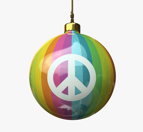 christmas ball - peace 3d 3ds