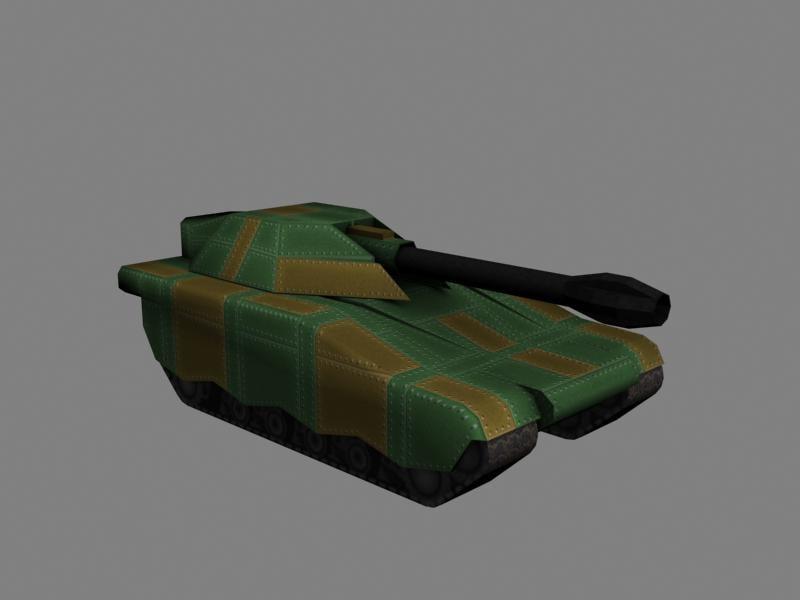 3d scifi tank