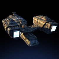dxf space freighter