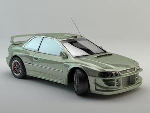 subaru impreza 3d model